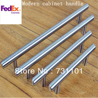drawer pull - Of C C mm Length mm D mm Drawer Pulls Brush Nickel Kitchen Cabinet T Pull Handle knob