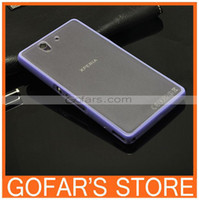 Cheap Jelly colors TPU+PC material,Beautiful design case for Sony-Ericsson Xperia Z L36H Bumper