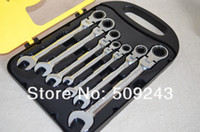Wholesale Classic SET CRV T Combination flexible Ratchet Wrench Spanner tools Set Hand tool car tool Fast shipping DIN