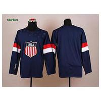 Cheap Wholesale Men's 2014 Winter Olympic Team USA Hockey Jersey # Blank Dark Blue Jerseys,mix order