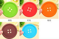 Wholesale Silicone Coffee Placemat Button Coaster Cup Mug Glass Beverage Holder Pad table mat