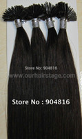 Cheap AAA Quality 22in-30in Flat Tip Italian Keratin Hair Extensions Black #1B 300g lot 100% Indian Remy Human Hair DHL Free Shipping