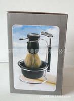 Wholesale Supply razor suits men s beauty packages beard brush set razors shaver kit shaving brush
