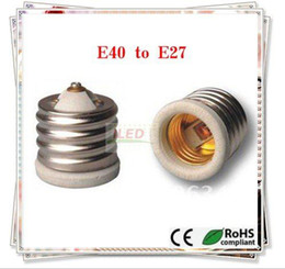 Wholesale HOT Ceramic materials Fire proof PBT E40 to E27 new lamp holder Adapters E27 E40 adapters