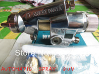 Cheap Hot saled IMPORTED ANEST IWATA AUTOMATIC W101 HVLP spray gun used for furniture Auto and house decoration air free shipping