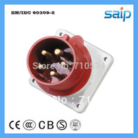Wholesale CEE IEC International Standard IP44 Electrical Panel Mounted V A P Industrial Plug