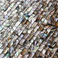 Wholesale Strip Shell Mosaic Tiles pure white Shell tiles Naural Mother of Pearl Tiles bathroom wall flooring tiles