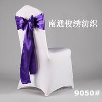 Wholesale chair Sashes New high quality satin satin wedding chair back decoration decorative ribbon bow back wedding Sashes