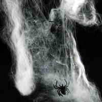 halloween cobweb - Love novelty Halloween props bar scene cobweb spider silk cotton spider with spider g Accessories