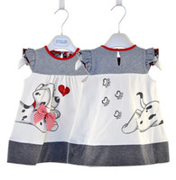 Wholesale New Baby Girl Fashion Dresses cute dog style Dress retail children s clothing kids dress summer