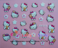 Wholesale Freeshipping NEW styles D nail sticker Decal Hello Kitty designs Nail Stickers Nail Art Decoration Wholesales