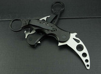Cheap Special offers Fox Claw Karambit Training Folding G10 handle knife Outdoor gear EDC Pocket Knife Learner training knifes