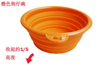 Wholesale Lowest Food Silicone Portable Pet feeding tool Folding Bowl Retractable Travel bowls new hot