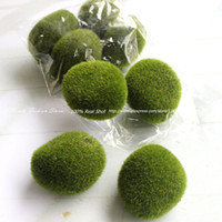 artificial moss balls - Rustic Artificial Fresh Moss Balls Decorative Green Plant Home Party Decoration Size to Choice