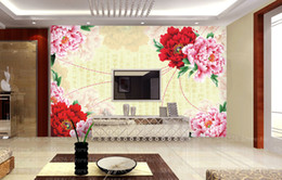 Wholesale Luxury Mural photo wallpaper tv sofa background decorative d wall panels fresco wall paper personalized Modern home decor