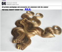 Cheap Cheapest in Aliexpress:queen virgin Brazilian remy hair mixed color #6 613 body weave By Labor hair extensions
