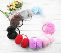 Wholesale 1Piece Fluffy warm Earmuffs U Pick New colorful Earmuffs Ear Warmers Ear Muffs Earlap Winter Warm Headband Best Quality