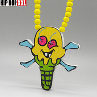 Cheap christmas free shipping hip hop Billionaire boys club ice cream necklace good wood nyc wood goodwood