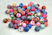 flower polymer clay beads - 200pcs Rondelle Handmade Polymer Clay Fimo beads Fit Bracelet Necklace