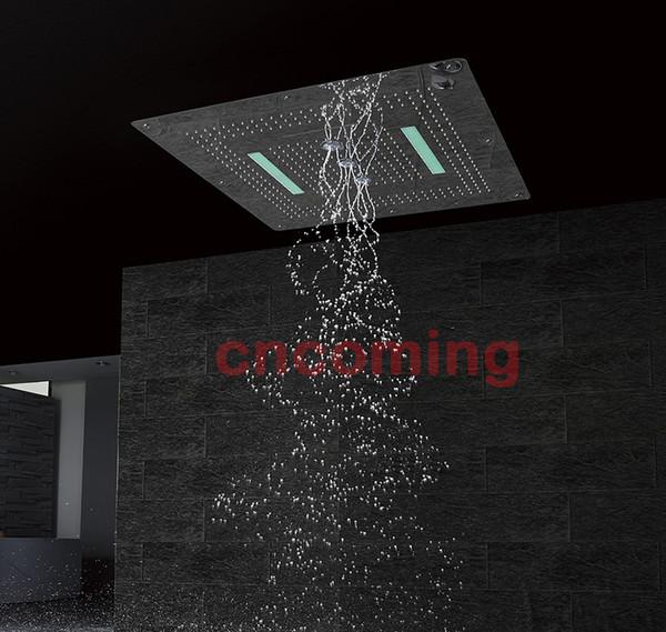 Led cabezal de ducha techo de sus304 gran tamaño 800x800mm cuatro ...