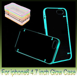 "Noctilucent Hybrid Hard Clear transparent Crystal Plastic Soft TPU Gel cover case For Iphone6 5S Iphone 6 plus 5.5"" 4.7 inch"