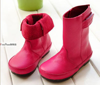 Cheap Size 25-38 season spring or fall genuine leather children boots family girls shoes for kids wld mum and daughter