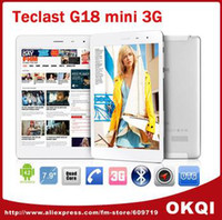"Cheap Teclast G18 Mini MTK8389 Quad Core Tablet PC 7.9"" IPS 1024x768 1GB 16GB Phone Call Built in 3G Bluetooth GPS Android 4.2"