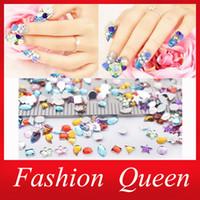 Wholesale Mix Designs d Rhinestone Nail Decoration Set Round Heart Crystal Glitter ss3 Swarovski Nail Art Deco Nail Accessories