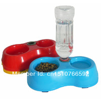 Cheap Free Shipping Pet Dog Cat Puppy Automatic Water Dispenser Food Dish Bowl Feeder Y940 w4Mf
