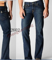 Wholesale New True Brand Men s Jeans high quality Fashion Classic Trousers Denim designer Straight Jean Pants For Men