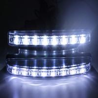 Cheap Free Shipping Car Truck Van Daytime Running Light Head Lamp White 8 LED DRL Daylight Kit Hot A1757 o1qk2