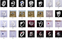 Wholesale 2014 mid September new Mixture Ladies Fashion Rings Silver Multi Rhinestone Dazzling Rings mix Size