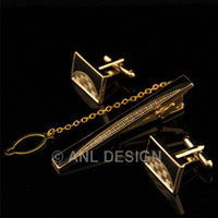 Wholesale FREE BOX High Quality Men Jewelry Cufflinks And Tie Clip Set For Shirt Wedding Dress Birthday Party Gift TS10 G00 C00 X21