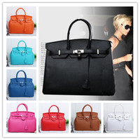 handbag leather - HOT Designer Handbag Elegant Lady Celebrity PU Leather Shoulder Bags Vintage Women Tote Handbags Colors