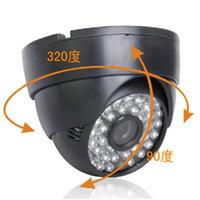 al por mayor noche carcasa de la cámara de visión-800tvl CMOS Aptina cámara domo color cámara CCTV analógica 48LEDs 3,6 mm / lente de 6 mm carcasa negro buena visión nocturna para uso en interiores