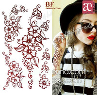 henna tattoo - mixed henna designs Temporary tattoo sticker Waterproof body painting arm leg sneck exy fashion party new
