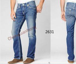 Wholesale New Arrive True Brand Men s Jeans high quality Fashion Classic Trousers Denim designer Straight Jean Pants For Men