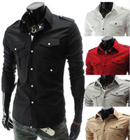 beautiful shirt designs - Fashion Mens shirts Men s Casual Slim Broken beautiful design Shirt Long Sleeve Shirts