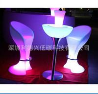 Wholesale Plastic furniture factory LED creative barstool LDX C08 led emitting chairs