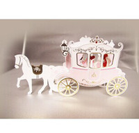Wholesale DIY creative commodity romantic carriage blessing card marriage stereo cards