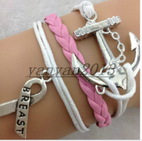 Cheap leather bangle bracelet Best anchor bracelet