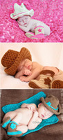 Cheap Wholesale-Free Shipping Fashion 2pcs Infant Kids Toddlers Newborn Baby Boys Girls Crochet Knit Hat Cap+Shoes Boots Photo Prop Outfit Set