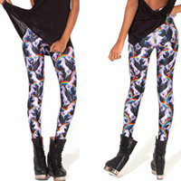 battle milk - Black milk on the new d image digital printing nine minutes of pants Unicorn leggings in battle