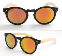 wood eyewear - New style Wood Sunglasses Designer Natrual Bamboo Sunglass Eyewear Glasses Style Hand Made Wooden Temples color
