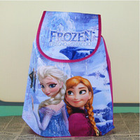 Wholesale 12pcs Movie Frozen Anna Elsa Princess peppa pig monster high Non woven String Backpack for Kid Children s School Bag birthday gifts