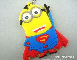 Wholesale 1 Footballer Style Pendants Despicable Me Minion Key chain The Minions Figure Superman key ring