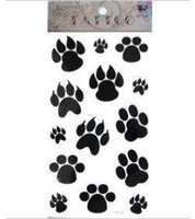 Wholesale Shiping Free Retail Dog Paw Footprint Tattoo Stickers Temporary Tattoos Fake Tattoos