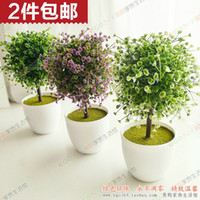 Cheap Artificial flowers bonsai tree ball boutique suite living room decorated artificial flowers silk flower floral