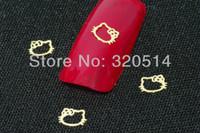 Cheap Free Shipping 1000pcs pack 3D Hello Kitty Design Nail Art Metal Sticker UV Gel Acrylic Tip Nail Art Cell Phone DecoraitonMY-174