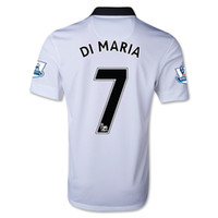 Wholesale WHOLESAE MAN United DI MARIA Jersey AWAY White Manchester DI MARIA Soccer Jerseys Kits Top AAA Qualily Player Version